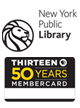 New York Public Library & THIRTEEN Dual Membership w/ Bookmark & Anniversary Tote